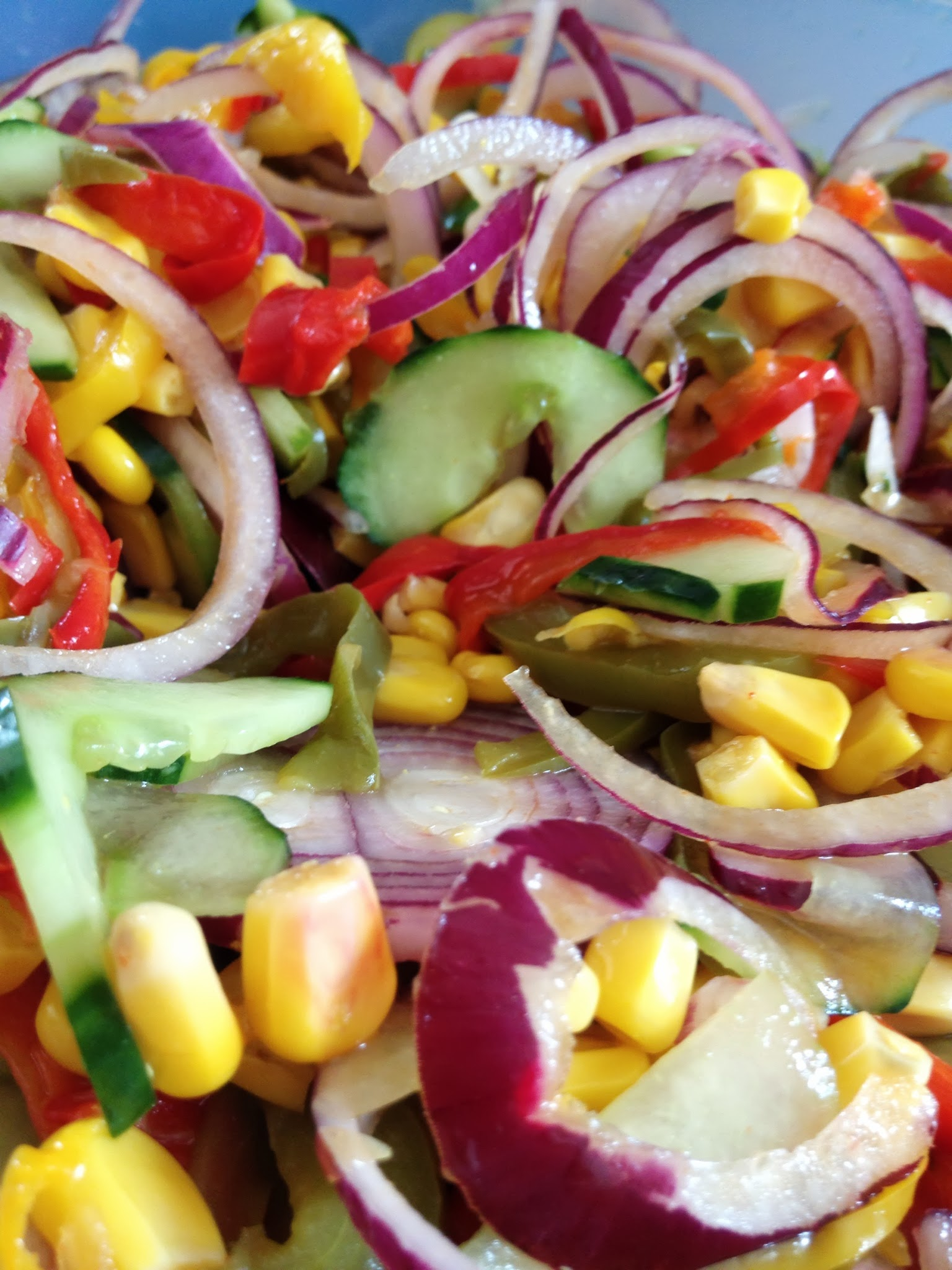 Salade aux trois poivrons