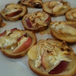 recyclage pain - tarte au chèvre et nectarines