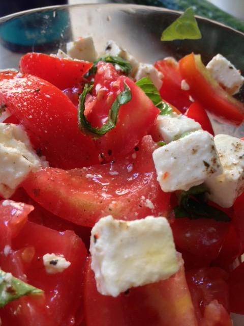 Recette de cuisine diététique à base de tomates et feta